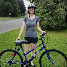 Cancer survivor gets back on her bike after 20 years to support research at The Ottawa Hospital