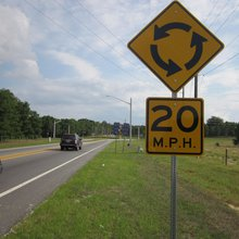 Florida studies show roundabouts safer than signals, signs