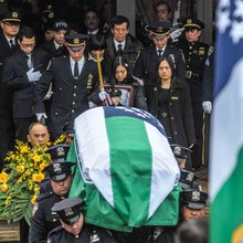 2nd NYPD funeral follows cold, wet day of mourning