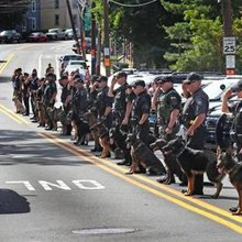 Arlington bids farewell to K-9 Dasty - The Boston Globe