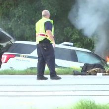 Suspect in custody, 4 taken to hospital following multi-car crash on I-95