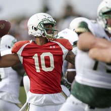 USF journal: Oladokun back at practice, and a Holtz sighting