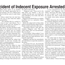 Suspect of Indecent Exposure Arrested and Charged
