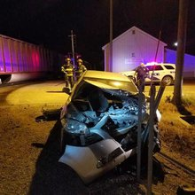 Train hits car stuck on tracks in Belle Plaine