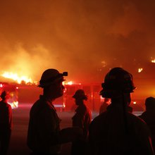 Photos: Firefighters work tirelessly to protect Ventura, Los Angeles amidst explosive wildfires