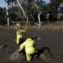 Photos: Crews work around the clock to clean millions of pounds of debris after Montecito mudslid...