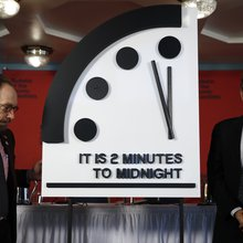 Doomsday Clock advances closer to midnight amid 'harrowing' reality of climate change, nuclear te...