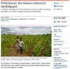 Child labour: the tobacco industry's smoking gun