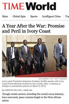 A Year After the War: Promise and Peril in Ivory Coast