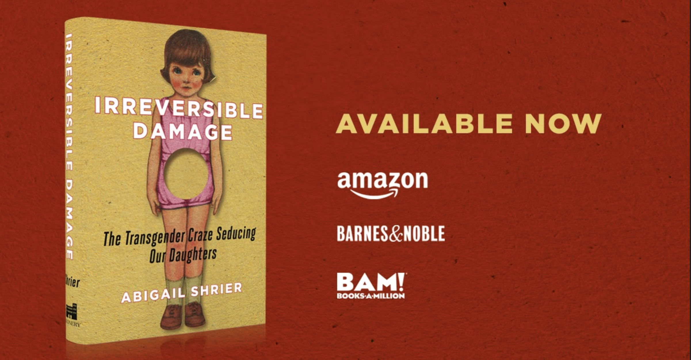 Amazon Bans Ads for Abigail Shrier's New Book Pointing Out How Transgender Ideology Harms Girls and Young Women