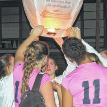 Anson volleyball players honor teammate killed in March