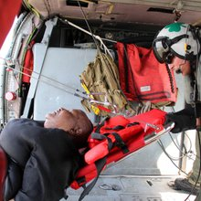 Navy helo plucks stranded Texans from floodwaters