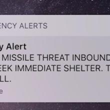 Ballistic Missile Emergency Alert for Hawaii Was a False Alarm