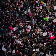 On the Anniversary of Trump's Inauguration, Women Took To The Streets For The Women's March