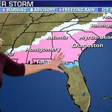 Deep South faces rare winter storm