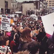 Thousands protest Trump in Montreal Women's March | The McGill Daily