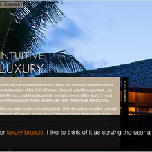 Web design for the luxury market