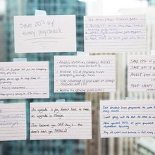 Simplify your finances: All you need is an index card