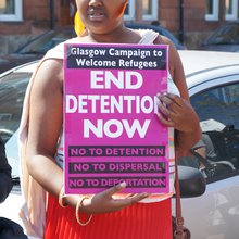 Protest at Glasgow Home Office as funerals held for drowned migrants