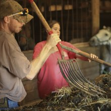 Floyd Co. woman won't give up reins