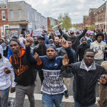 Protesters In Baltimore Say Police Just Shot A Man In The Back As He Ran Away