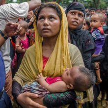 400,000 terrified refugees huddled in camps show the lie behind Myanmar's brutality - Independent...