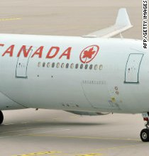 An Australian yachtsman is rescued with the help of an Air Canada jet.
