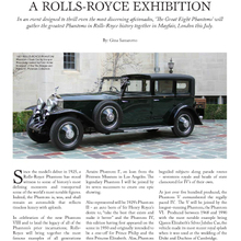 The Great Eight Phantoms - A Historic Moment for Rolls Royce