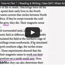 The trouble with Khan Academy's video tutorials for the reading section of the new SAT