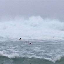 Guam residents take shelter from typhoon's high winds