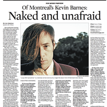 Of Montreal's Kevin Barnes: Naked and Unafraid
