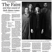 The Faint and That Sound of Dark Dance Tunes