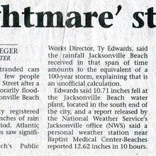 'Nightmare Storm' Soaks Jax Beach