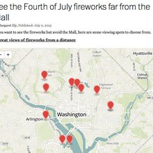Map: See the Fourth of July fireworks far from the Mall