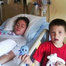 Mother's turn to be saved: Woman in coma after rescuing son from reservoir