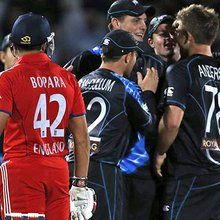 England v New Zealand: tourists triumph in thrilling opening Twenty20 international match at the ...
