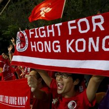 Hong Kong Soccer Fans Celebrate Draw With China