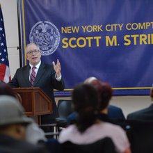 At Bed-Stuy town hall, Stringer's mayoral run takes shape - Brooklyn Eagle