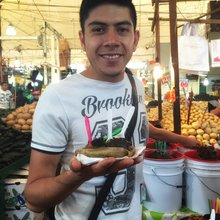 Food doesn't get any more local than at this Mexico City market