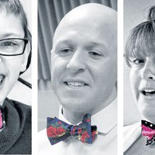 On 'Bow Tie Tuesdays' at this school, kids are united by being quirky