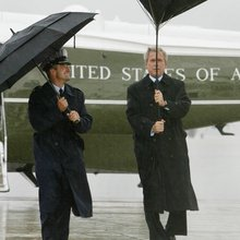 AP photographer has chronicled several presidents' 'umbrella problems'