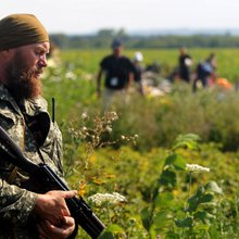 Snipers on guard at MH17 crash site