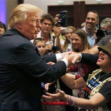 Despite being dominant in the polls, Donald Trump is still sniping at his rivals
