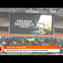 "The Year of the Selfie - World Leaders Snap ""Selfies"" at Mandela's Memorial"