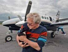 Old Forge pilot makes daylong trip to save puppies