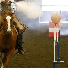 Horseback riders get hooked on cowboy mounted shooting at equestrian club south of Laurel