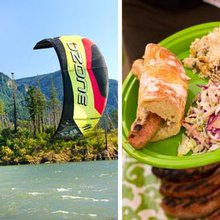 Recipes from a summer boat party after kiteboarding in Hood River