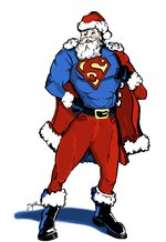 Santa vs. superheroes