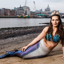 This Londoner works as a professional mermaid