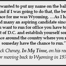 Wyoming, Meet Liz Cheney